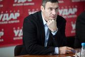 Ukrainian boxer Vitali Klitschko at the press conference — Stock Photo