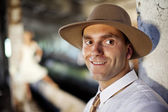 Man in hat — Stock Photo