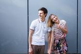 улыбаясь пара — Стоковое фото