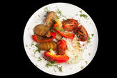 Plate with tasty food — Стоковое фото