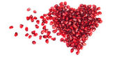 Heart of pomegranate seeds — Stock Photo