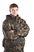 Man in camouflage — Stock Photo