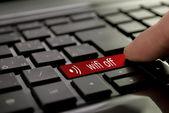 Červené tlačítko wifi vypnuto — Stock fotografie
