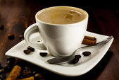 Coffe cinnamon — Stock Photo