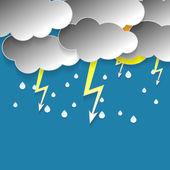 Rainy sky — Stock Vector