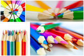 Collection of colour pencil — Stock Photo