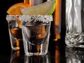Guld tequila — Stockfoto