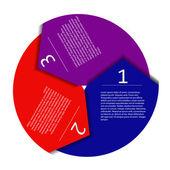 Infographic arrow — Stock Vector