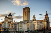 Pier Head - Liverpool - England — Stock Photo