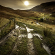 Track around dove stone reservoir — Stock Photo #41622415