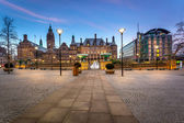 Sheffield Town hall Panoramic view — Stock Photo