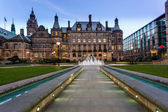 Sheffield Town hall path — Stock Photo