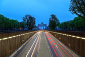 Road to Arch de Triumph Brussels — Stock Photo