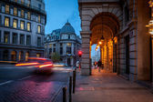 Brussels at dawn — Stock Photo