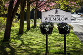Sign board Wilmslow — Stock Photo
