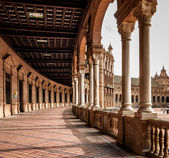 Corridor of Plaza de Espana , Spain — Stock Photo