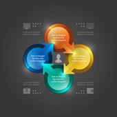 Creative Vector Infographics Template. 3D Circles Diagram. Vector EPS10 Illustration Design — Stock Vector