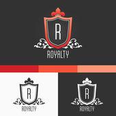 Royalty Crest Ornament Template. Modern Vector EPS10 Concept Illustration Design — Stock Vector