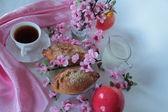 Spring breakfast — Stock Photo