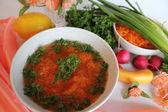 スープとニンジン — ストック写真