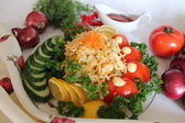 Vegetables salad of cabbage — Stock Photo
