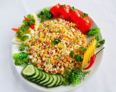 Salad with crab stick — Stock Photo