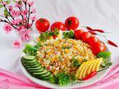 Salad with crab stick — Stock Photo