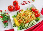 Vermicelli e verdure — Foto Stock