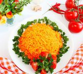 Salad of carrots — Stock Photo