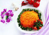 Salat von Möhren — Stockfoto