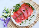 Fish light salted trout — Stockfoto