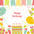 Happy birthday card with place for text. — Stock Vector #41553763