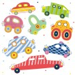 Children's seamless pattern with cars. — Stock Vector