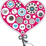 Pink heart. — Stock Vector