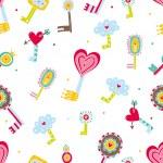 The keys of love.Cute illustration. — Stock Vector