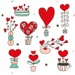 Cute seamless pattern about love. — Stock Vector #41554853