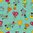 Cute seamless pattern about love. — Stock Vector #41554859