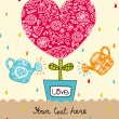 Sweet heart. Postcard for St. Valentine's day. — Stock Vector