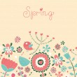 Stock Vector: Spring postcard.