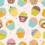 Sweet cake. Seamless pattern. — Stock Vector #41557475