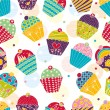 Sweet cake. Seamless pattern. — Stock Vector