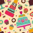 Sweet vector a seamless pattern — Stock Vector