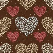 Flower heart. Seamless pattern. — Vector de stock