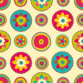 Decorative seamless pattern with bright colors — Stock Vector