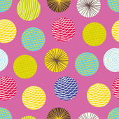 Colorful seamless pattern, polka dot fabric — Stockvektor