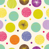 Colorful seamless pattern, polka dot fabric — Stock Vector