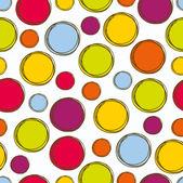 Coloridos patrones sin fisuras, tela de lunares — Vector de stock