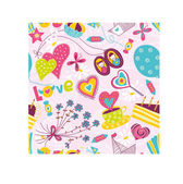Cute seamless pattern about love by Saint Valentine's day. — ストックベクタ