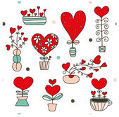 Cute seamless pattern about love. — Wektor stockowy