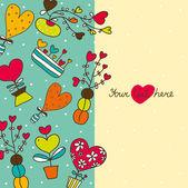 Bonita postal de amor. — Vector de stock